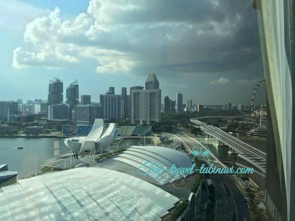 シンガポール マリーナベイサンズホテル 部屋 景色