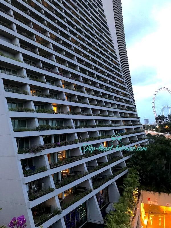 シンガポール マリーナベイサンズホテル ガーデンビュー