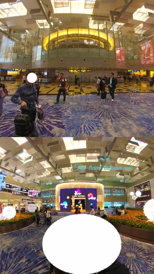 シンガポール  チャンギ空港 ターミナル 123  ルイヴィトン
