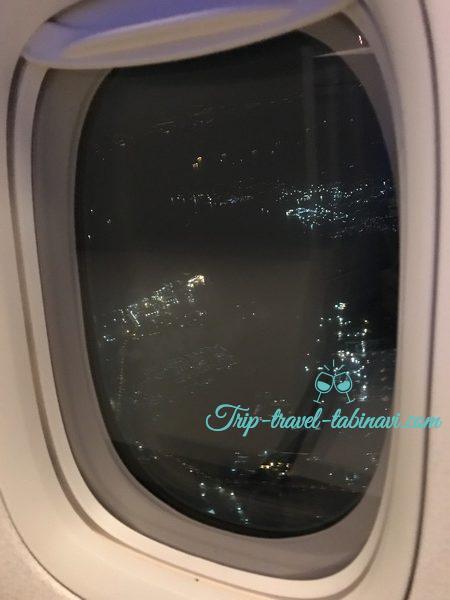 JAL 国際線 ビジネスクラス SKYSUITEIII スカイスィートIII 深夜便 羽田 シンガポール 景色