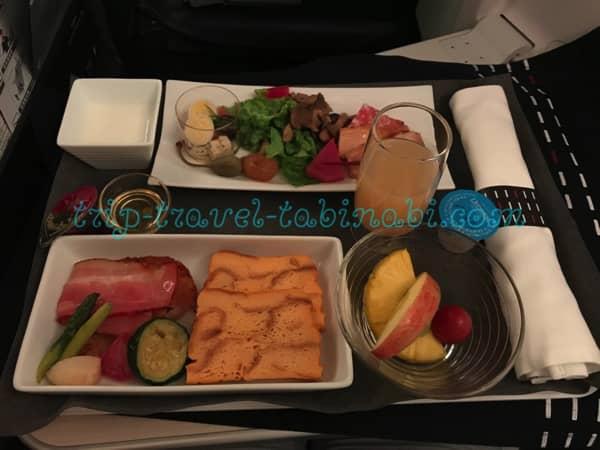 JAL 国際線 ビジネスクラス SKYSUITEIII スカイスィートIII 深夜便 羽田 シンガポール 機内食 洋食