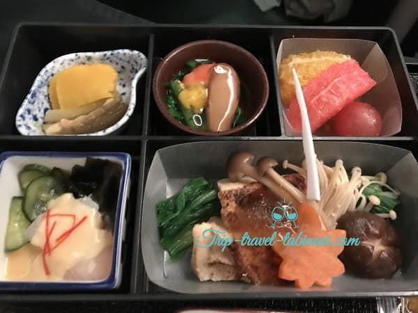 JAL 国際線 ビジネスクラス SKYSUITEIII スカイスィートIII 深夜便 羽田 シンガポール 機内食 和食