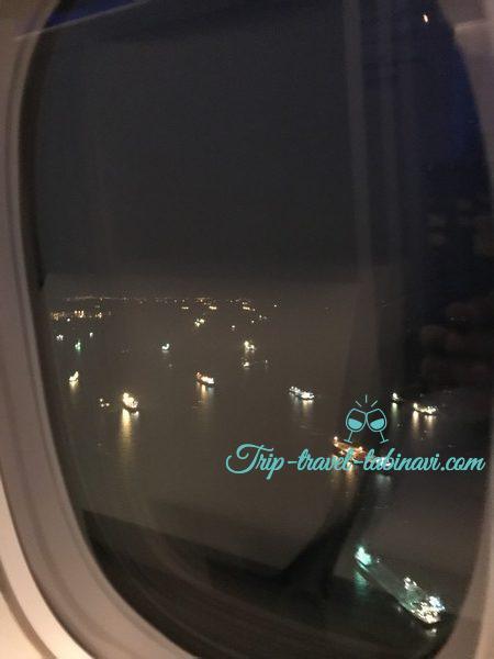 JAL 国際線 ビジネスクラス SKYSUITEIII スカイスィートIII 深夜便 羽田 シンガポール 景観