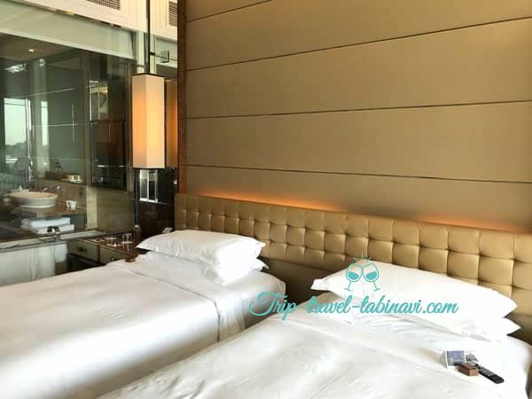 シンガポール フラトンベイホテル ベッド ツイン