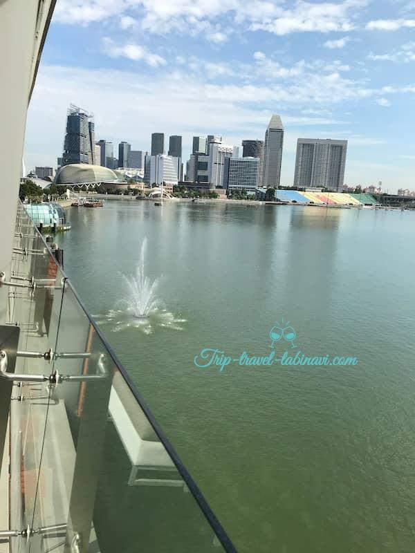 シンガポール フラトンベイホテル バルコニー ビュールーム