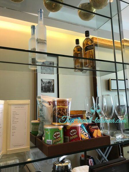 シンガポール フラトンベイホテル ミニバー