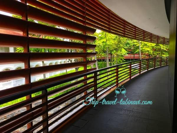 カペラホテル スィートルーム 廊下 セントーサ シンガポール Capella Hotel Singapore