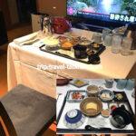 京都グランヴィアホテルのルームサービスの朝食 浮橋