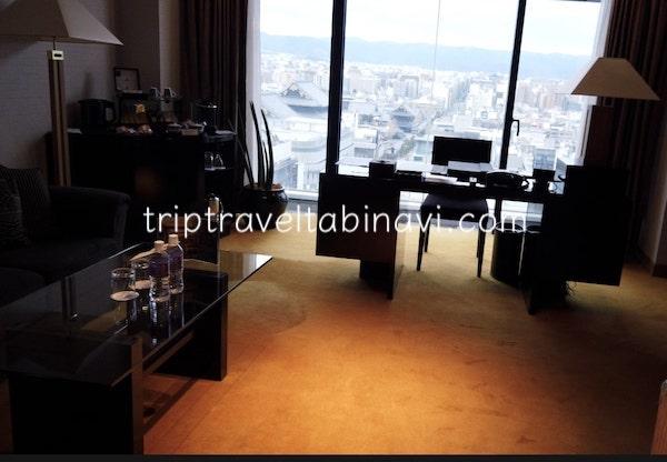 京都 グランヴィアホテル エグゼクティブ スィートルーム 15階